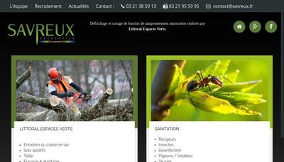 Site internet de Savreux Entreprise