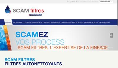 Site internet de Scam Filtres