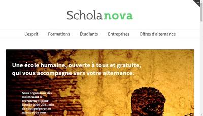 Site internet de Schola Nova - Agility Factory