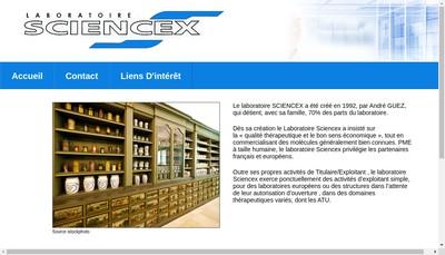 Site internet de Laboratoire Sciencex