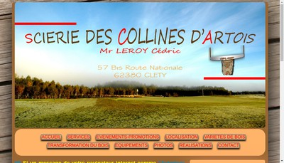 Site internet de Scierie des Collines d'Artois