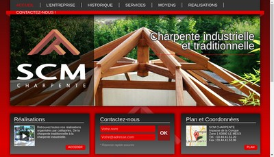 Site internet de Societe Charpente Menuiserie