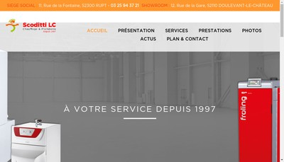 Site internet de Scoditti Lc