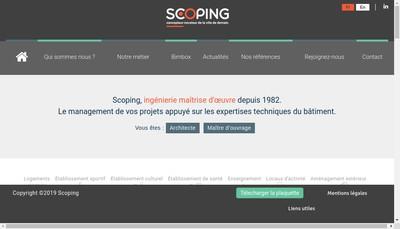Site internet de Scoping