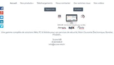 Site internet de Score Mb