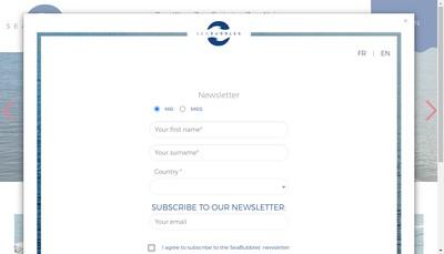 Site internet de Seabubbles
