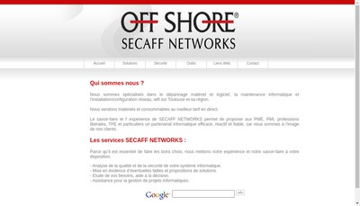 Site internet de Secaff Networks