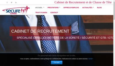 Site internet de Secure Conseil