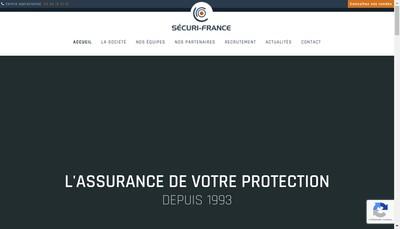 Site internet de Securi France