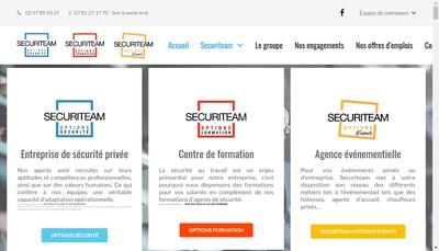 Site internet de Securiteam Options Formation