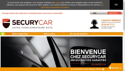 Site internet de Securycar