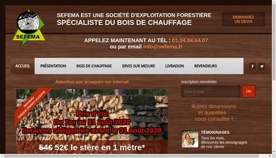 Site internet de Sefema