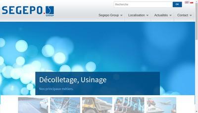 Site internet de Segepo Decolletage