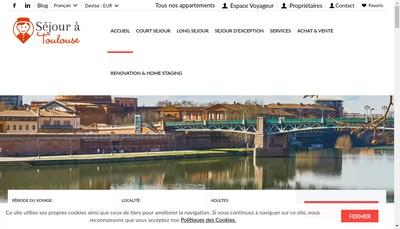 Site internet de Sejouratoulouse