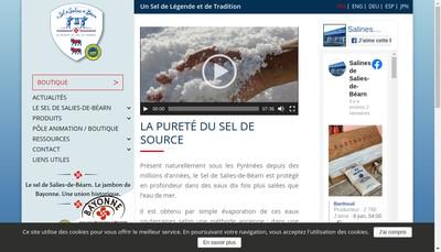Site internet de Societe d'Exploitation des Salines de Salies de Bearn
