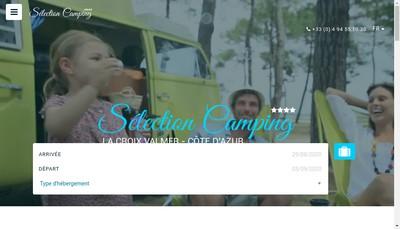 Site internet de Selection Camping