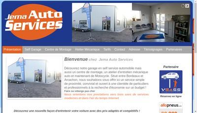 Site internet de Jema Auto Services