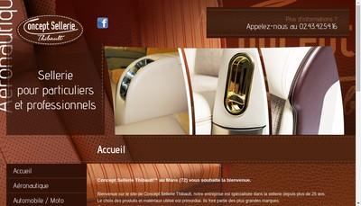 Site internet de Concept Sellerie Thibault
