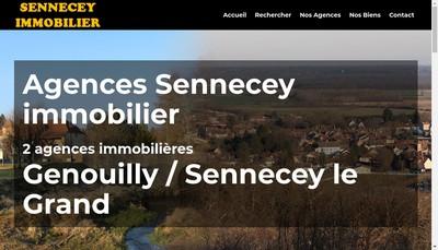 Site internet de Sennecey Immobilier