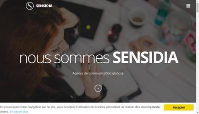 Site internet de Sensidia