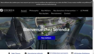 Site internet de Serendia