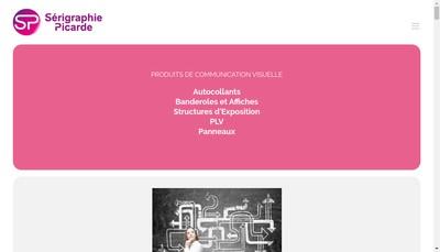 Site internet de Serigraphie Picarde