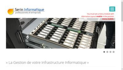 Site internet de Serin Informatique
