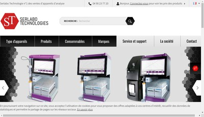 Site internet de Serlabo Technologies