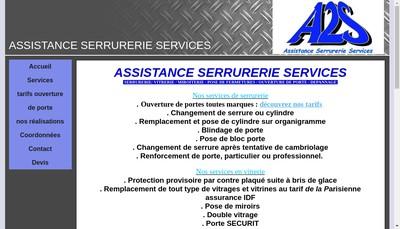 Site internet de A2S Assistance Serrurerie Services
