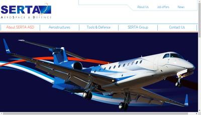 Site internet de Serta Aerospace & Defence