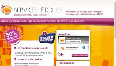 Site internet de Services Etoiles