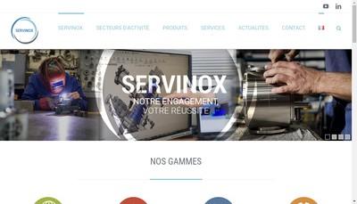 Site internet de Servinox - Hprocess