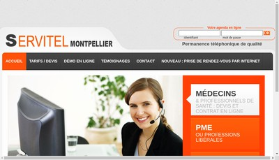 Site internet de Servitel Montpellier