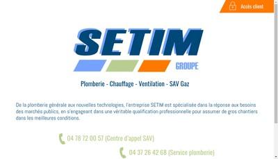 Site internet de Setim Sav