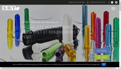 Site internet de Societe Generale des Techniques
