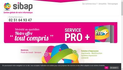 Site internet de Sibap