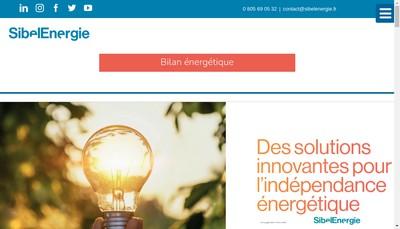 Site internet de Sibel Energie