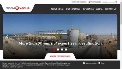 Site internet de Societe Internationale de Dessalement