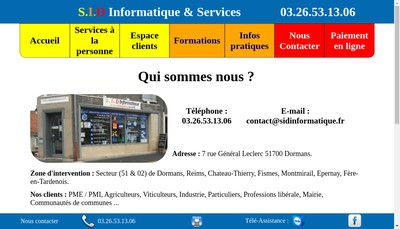 Site internet de SID Informatique