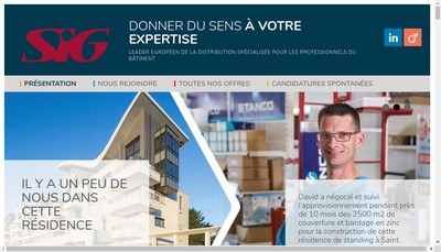 Site internet de SIG France