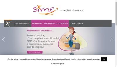 Site internet de Sime