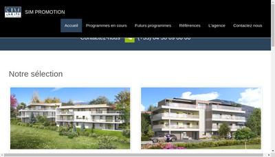 Site internet de Sim Promotion