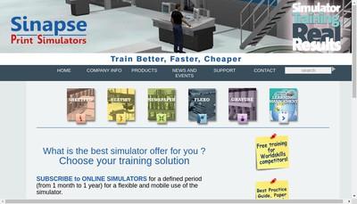 Site internet de Sinapse Print Simulators