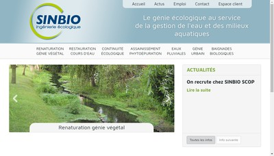 Site internet de Sinbio