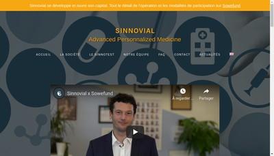 Site internet de Sinnovial