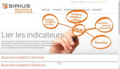 Site internet de Sirius Europe