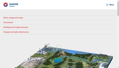 Site internet de Sixense Monitoring