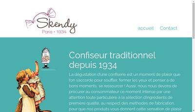 Site internet de Bonbons Skendy