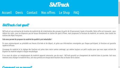 Site internet de Skitruck