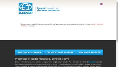 Site internet de Sleever International